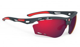 Rudy Project Propulse Sunglasses - Matte Charcoal / Multilaser Red
