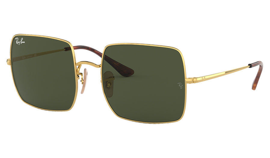 Ray-Ban RB1971 Square Sunglasses - Gold / Green