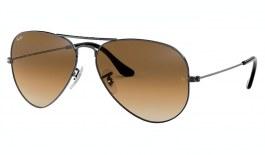 Ray-Ban RB3025 Aviator Sunglasses - Gunmetal / Brown Gradient