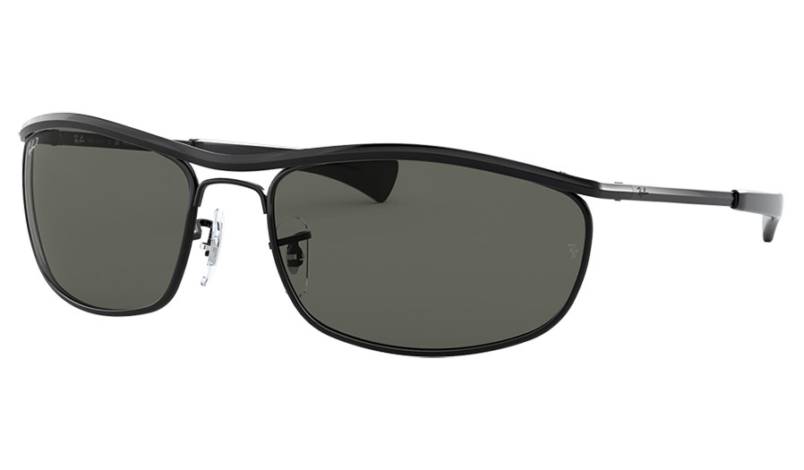 Ray-Ban RB3119M Olympian I Deluxe Sunglasses - Black / Green Polarised