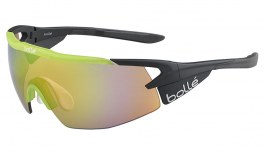 Bolle Aeromax Sunglasses - Matte Black & Translucent Green / NXT Brown Emerald