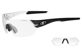 Tifosi Slice Prescription Sunglasses - Black & White / Light Night Fototec