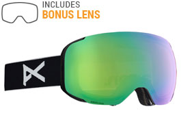 Anon M2 Ski Goggles - Black / Sonar Green + Sonar Infrared