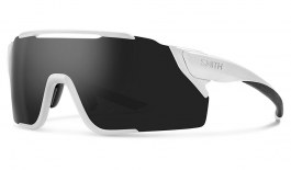 Smith Attack MAG MTB Sunglasses - Matte White / ChromaPop Black + ChromaPop Low Light Amber