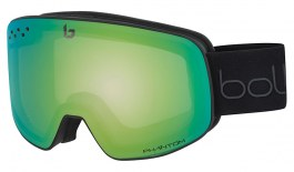 Bolle Nevada Ski Goggles - Matte Black & Green Diagonal / NXT Phantom Green Emerald Photochromic