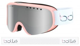 Bolle Scarlett Ski Goggles - Matte Pink & White / Black Chrome