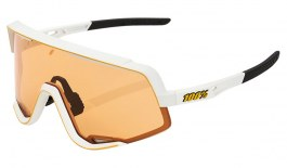 100% Glendale Sunglasses - Soft Tact Off White / Persimmon + Smoke