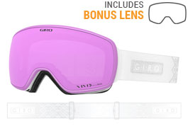 Giro Eave Prescription Ski Goggles - White Velvet / Vivid Pink + Vivid Infrared
