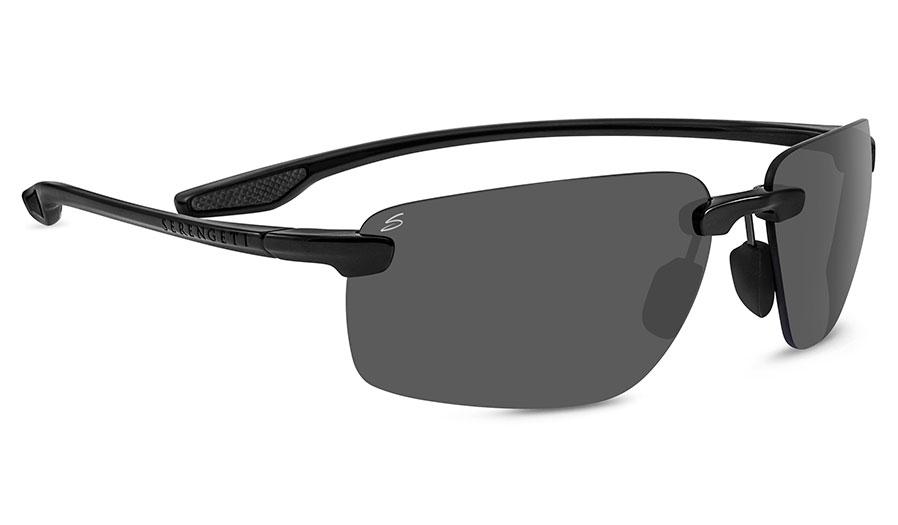 Serengeti Erice Sunglasses - Shiny Black / CPG Polarised Photochromic
