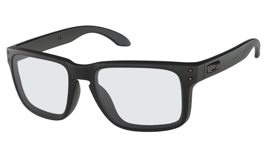 287b55a5f6 Oakley Holbrook Prescription Sunglasses - Matte Black (Gunmetal Icon ...