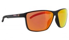 Red Bull Drift Sunglasses - Shiny Black / Brown Red Mirror Polarised