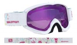 Salomon Juke Ski Goggles - White Flower / Universal Ruby