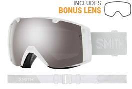 Smith Optics I/O Ski Goggles - White Vapor / ChromaPop Sun Platinum Mirror + ChromaPop Storm Rose Flash