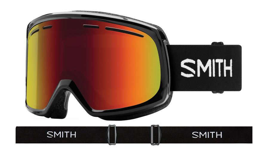 Smith Range Prescription Ski Goggles - Black / Red Sol-X Mirror