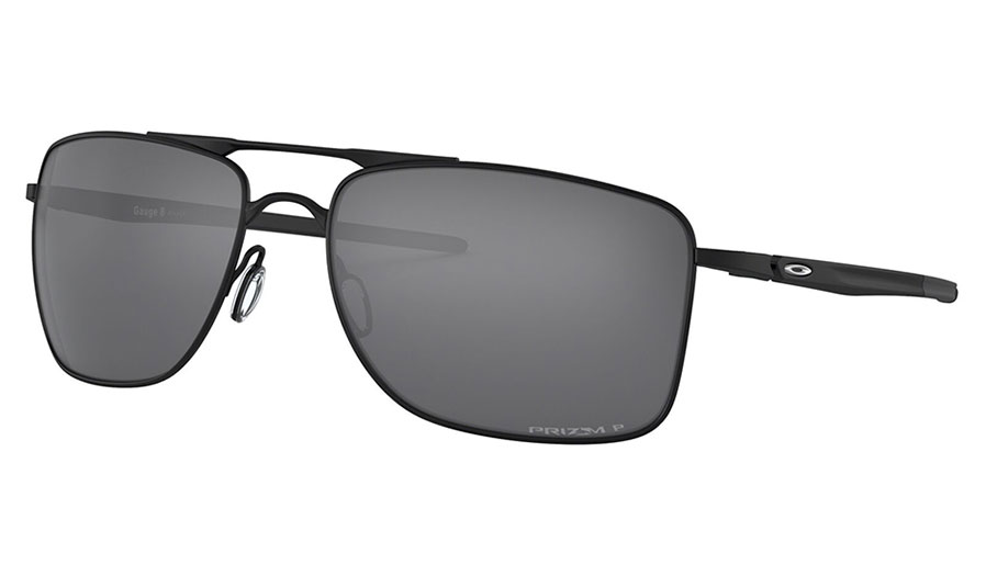 Oakley Gauge 8 Sunglasses - Matte Black / Prizm Black Polarised