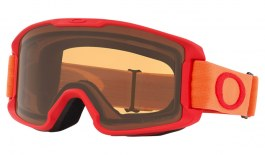 Oakley Line Miner Youth Ski Goggles - Red Neon Orange / Prizm Persimmon