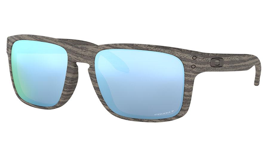 Oakley Holbrook Sunglasses - Woodgrain / Prizm Deep Water Polarised
