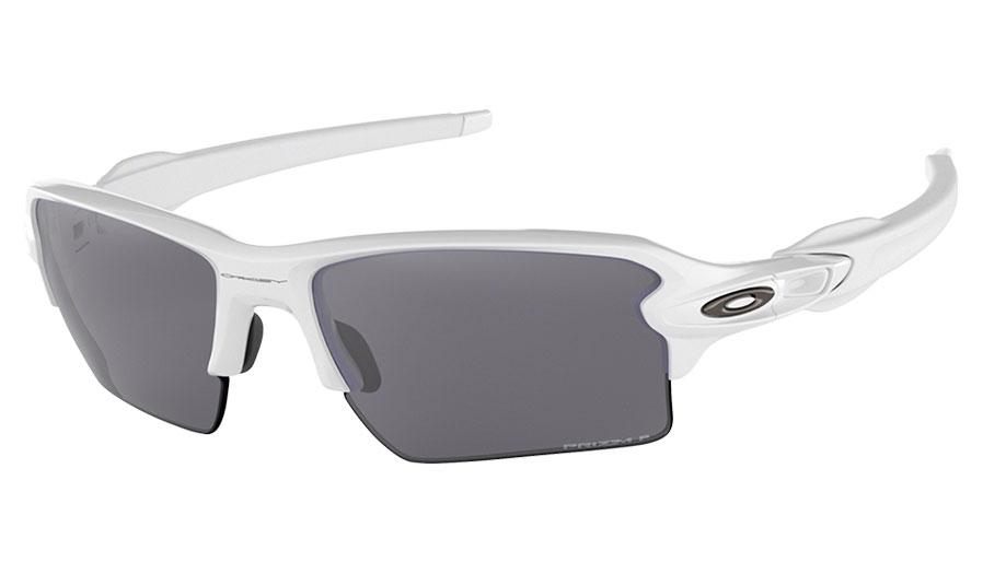 60b595520a Oakley Flak 2.0 XL Sunglasses - Polished White   Prizm Black Polarised