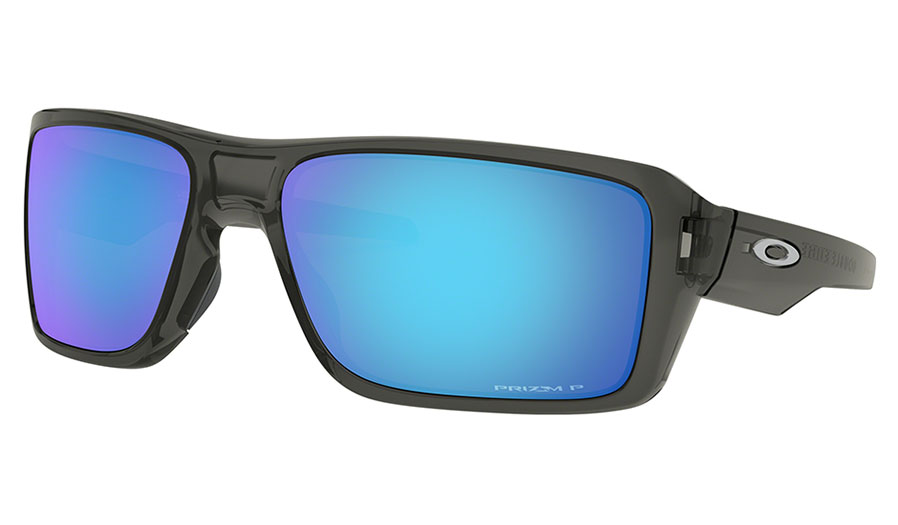 Oakley Double Edge Sunglasses - Grey Smoke / Prizm Sapphire Polarised