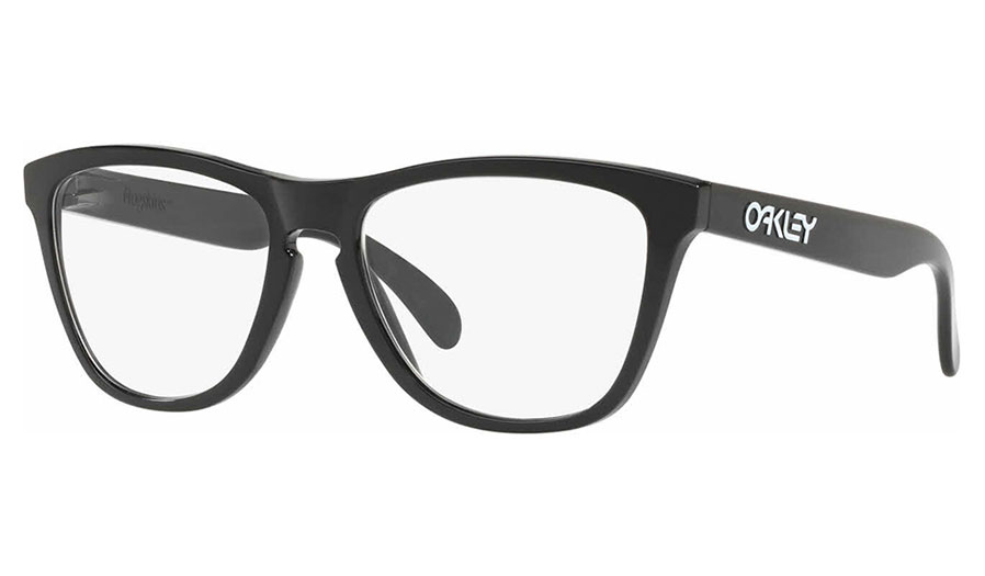 40ce99d027c Oakley Frogskins Rx Prescription Glasses - Polished Black - Oakley ...