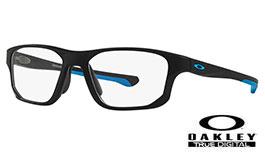 f5e1fca2d7 Oakley Crosslink Fit Prescription Glasses - Satin Black   Blue - Oakley  Lenses