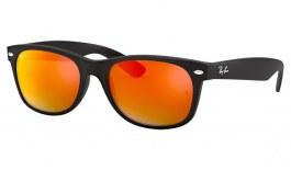 Ray-Ban RB2132 New Wayfarer Sunglasses - Matte Black / Orange Flash