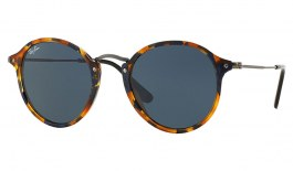Ray-Ban RB2447 Sunglasses - Tortoise & Gunmetal / Blue Grey