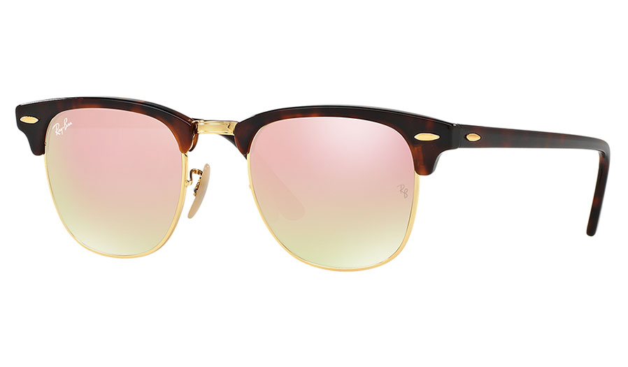 c9f48314156 Ray-Ban RB3016 Clubmaster Sunglasses - Tortoise   Gold   Copper Gradient  Flash - RxSport