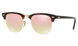 Ray-Ban RB3016 Clubmaster Sunglasses - Tortoise & Gold / Copper Gradient Flash