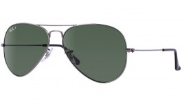 Ray-Ban RB3025 Aviator Sunglasses - Gunmetal / Green Polarised