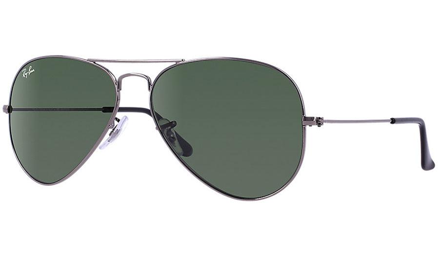 df598af544 Ray-Ban RB3025 Aviator Sunglasses - Gunmetal   Green (G-15 XLT) - RxSport