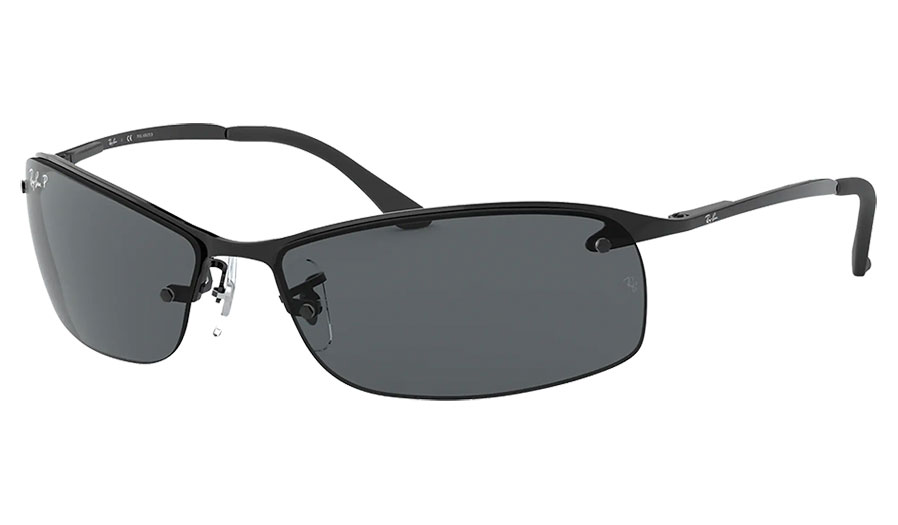 Ray-Ban RB3183 Sunglasses - Black / Grey Polarised
