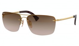Ray-Ban RB3607 Sunglasses - Gold / Brown Gradient