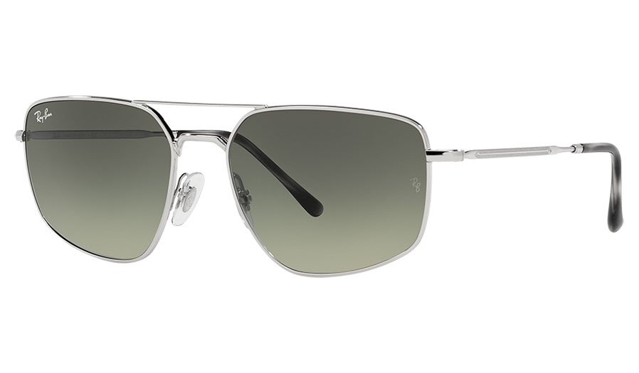 Ray-Ban RB3666 Sunglasses - Silver / Grey Gradient