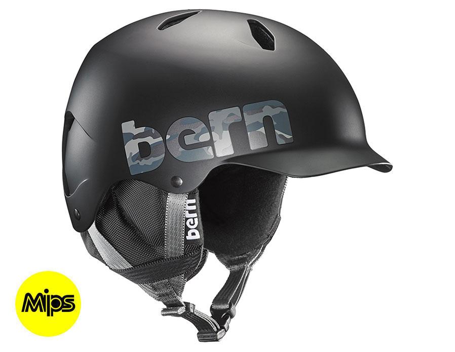 Bern Bandito MIPS Ski Helmet - Matte Black Camo Logo
