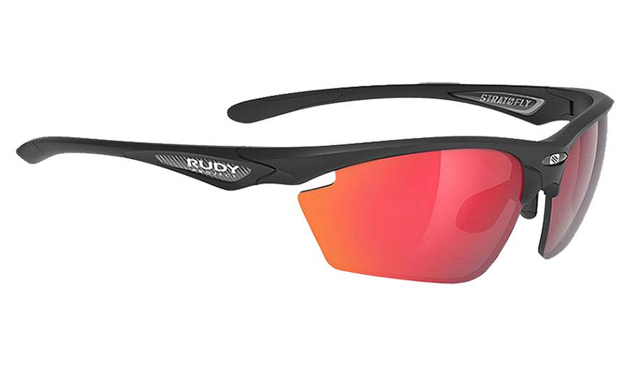 Rudy Project Stratofly Prescription Sunglasses - Clip-On Insert - Matte Black / Multilaser Red
