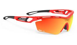 Rudy Project Tralyx Prescription Sunglasses - Clip-On Insert - Fluo Red / Multilaser Orange