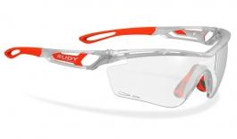 Rudy Project Tralyx Prescription Sunglasses - Clip-On Insert - Matte Ice Silver / ImpactX 2 Photochromic Black