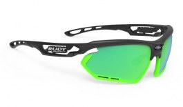 Rudy Project Fotonyk Sunglasses - Matte Black & Lime / Polar 3FX HDR Multilaser Green