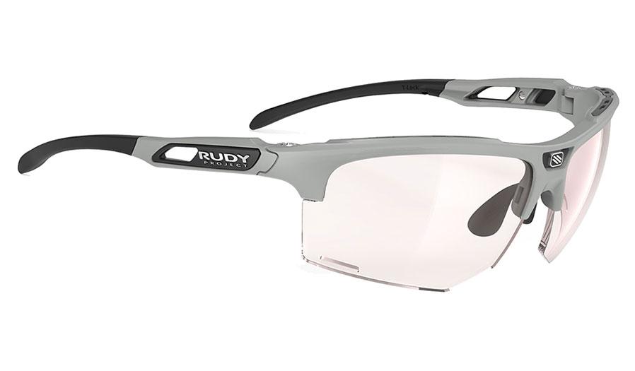 Rudy Project Keyblade Prescription Sunglasses - Clip-On Insert - Matte Light Grey (Running Edition) / ImpactX 2 Photochromic Red