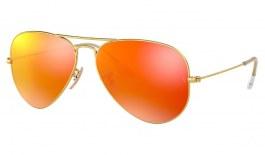 Ray-Ban RB3025 Aviator Sunglasses - Matte Gold / Orange Flash