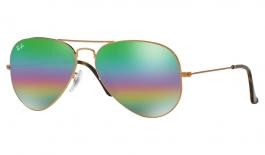 Ray-Ban RB3025 Aviator Sunglasses - Bronze Copper / Green Rainbow Flash