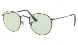 Ray-Ban RB3447 Round Metal Sunglasses - Gunmetal / Evolve Light Green Photochromic