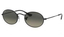Ray-Ban RB3547N Oval Flat Lenses Sunglasses - Black / Grey Gradient