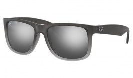 Ray-Ban RB4165 Justin Sunglasses - Grey / Grey Gradient Silver Mirror