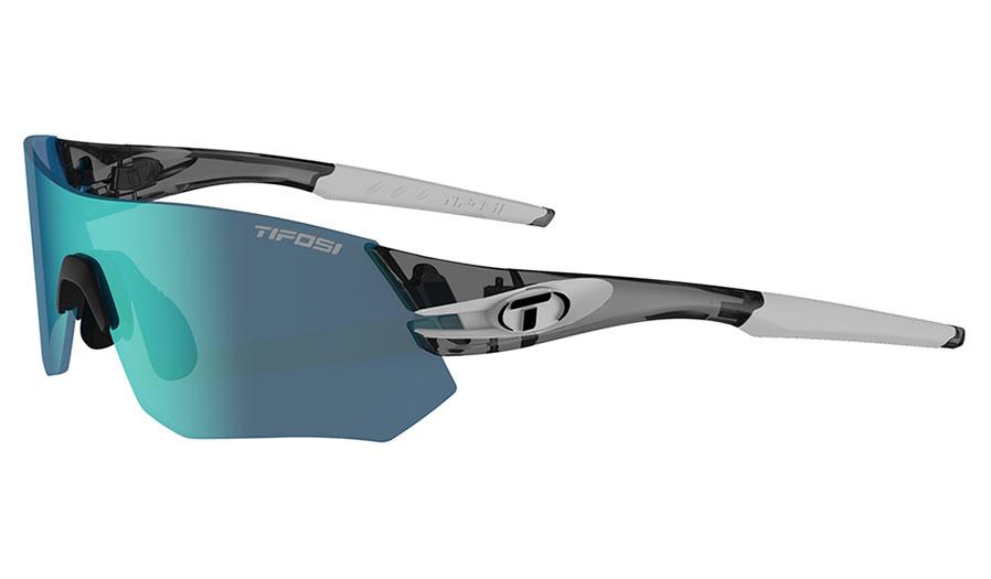 Tifosi Tsali Sunglasses - Crystal Smoke & White / Clarion Blue + AC Red + Clear