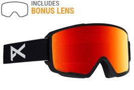 Anon M3 Ski Goggles - Black / Sonar Red + Sonar Blue