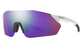 Smith Reverb Prescription Sunglasses - ODS4 Insert - Matte White / ChromaPop Violet Mirror + ChromaPop Contrast Rose
