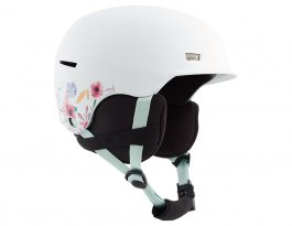 Anon Flash Junior Ski Helmet - Flowers White