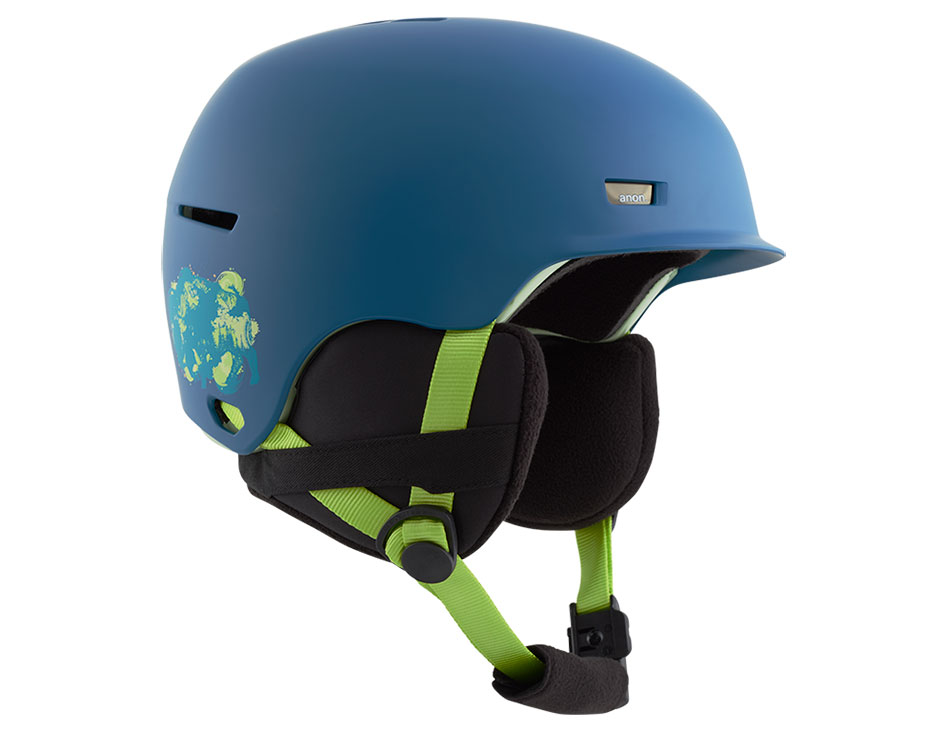 Anon Flash Junior Ski Helmet - Blue Bison